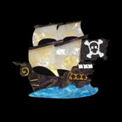 Jolly Roger Brooch By Tantalising Treasures