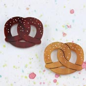 Pretzel Brooch By Kimchi And Coconut