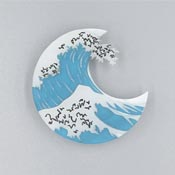 Great Wave Brooch By Kimchi And Coconut