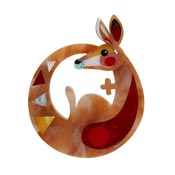 The Kinetic Kangaroo Brooch By Erstwilder X Pete Cromer