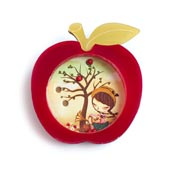Red Apple Dexterity Balls Puzzle Brooch By Laliblue