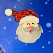 Laughing Santa Brooch By Tantalising Treasures
