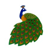 Le Peacock Royal Brooch By Erstwilder - Imperfect