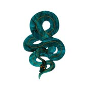 Le Serpent Snake Brooch By Erstwilder
