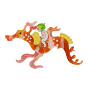 Leafy And The Sea Dragon Brooch By Erstwilder