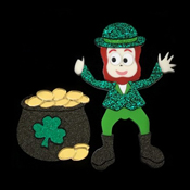 Liam The Leprechaun Brooch Set By Tantalising Treasures