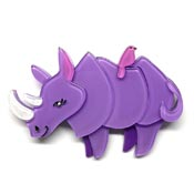 Life By The Horns Rhino Brooch By Erstwilder