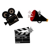Lights Camera Action Brooch Set By Erstwilder - Imperfect