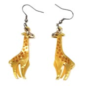 Long-Neck Lovers Giraffe Earrings By Erstwilder