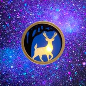Magical Stag Light Up Brooch By Tantalising Treasures