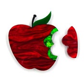 Magic Poisoned Apple Brooch By Tantalising Treasures