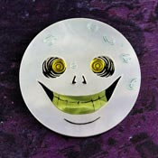 Man In The Moon Brooch By Gory Dorky