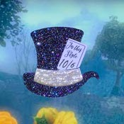 Midnight Blue Holo Mad Hatters Hat Brooch By Tantalising Treasures