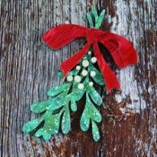 Mistletoe Brooch By Kimchi And Coconut - Repaired