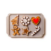 Mixed Gingerbread Tray Brooch By Martinis & Slippers