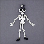Mr. Bones Jangles Brooch By Tantalising Treasures