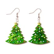 Christmas Tree Earrings By Martinis & Slippers