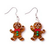 Gingerbread Man Earrings By Martinis & Slippers