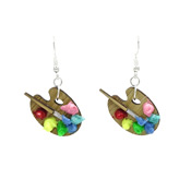 Paint Palette Earrings By Martinis & Slippers