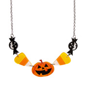 No Tricks Halloween Necklace By Erstwilder