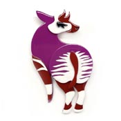 Okapi Of Course Brooch By Erstwilder