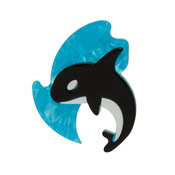 Olinda The Honorable Orca Brooch By Erstwilder Imperfect