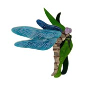 On Gossamer Wings Dragonfly Brooch By Erstwilder