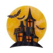 On Haunted Hill Haunted House Brooch By Erstwilder