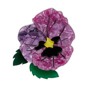 On Sleeping Eyelids Pansy Brooch By Erstwilder