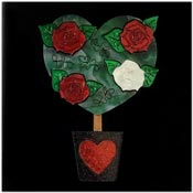 Painting The Roses Red Brooch By Tantalising Treasures