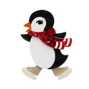 Pebbles On Ice Penguin Brooch By Erstwilder - Imperfect
