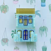 Peranakan Shop House Aqua Brooch By She Loves Blooms
