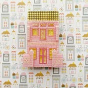 Peranakan Shop House Pink Brooch By She Loves Blooms