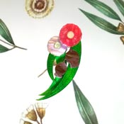 Pink Gumtree Blossom Brooch By Tantalising Treasures