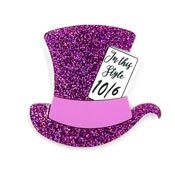 Pink Mad Hatters Hat Brooch By Tantalising Treasures