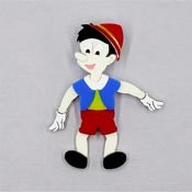 Articulated Pinocchio Brooch By Tantalising Treasures