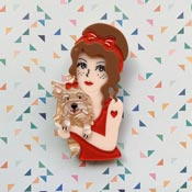 Pippi Love Brooch By She Loves Blooms