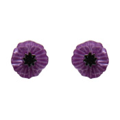 Poppy Field Earrings Purple By Erstwilder