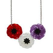 Poppy Field Necklace By Erstwilder Tri-Color
