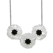 Poppy Field Necklace By Erstwilder White