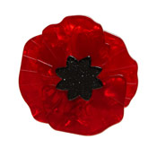 Red Poppy Field Brooch By Erstwilder