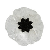 White Poppy Field Brooch By Erstwilder