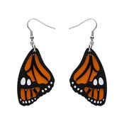 Prince Of Orange Monarch Butterfly Wing Earrings Fan Favorite 2021 By Erstwilder