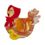 Proud Mother Hen Brooch By Erstwilder