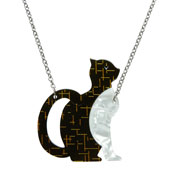 Purrfectly Content Cat Necklace By Erstwilder