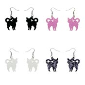 Pussy Cat Drop Earrings By Erstwilder - Pick Your Color!
