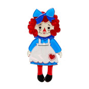 Raggedy Annie Brooch By Erstwilder - Imperfect