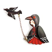 Crow Girl Brooch Pair By Laliblue