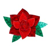 Rosa Espanola Red Rose Brooch By Erstwilder