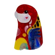 The Rowdy Rosella Brooch By Erstwilder X Pete Cromer